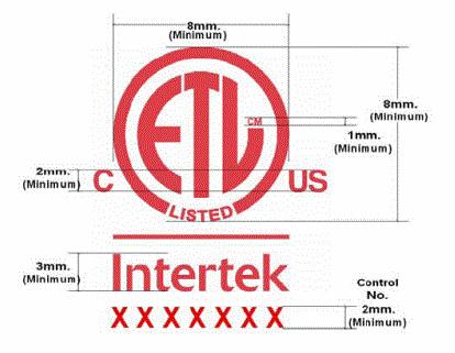 ETL标志尺寸